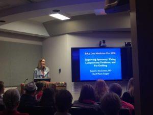 Dr. MacLennan speak at BRA Day in Medicine Hat